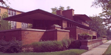 Robie House Chicago Illinois 1908 Frank Lloyd Wright a Famous Prairie Style Home Architecture History